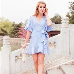 Nordstrom Soprano Brand Blue & White Stripe Dress